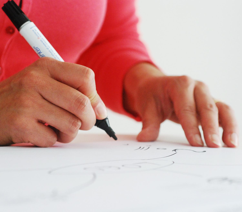 Anfertigen einer Entwurfs-Skizze