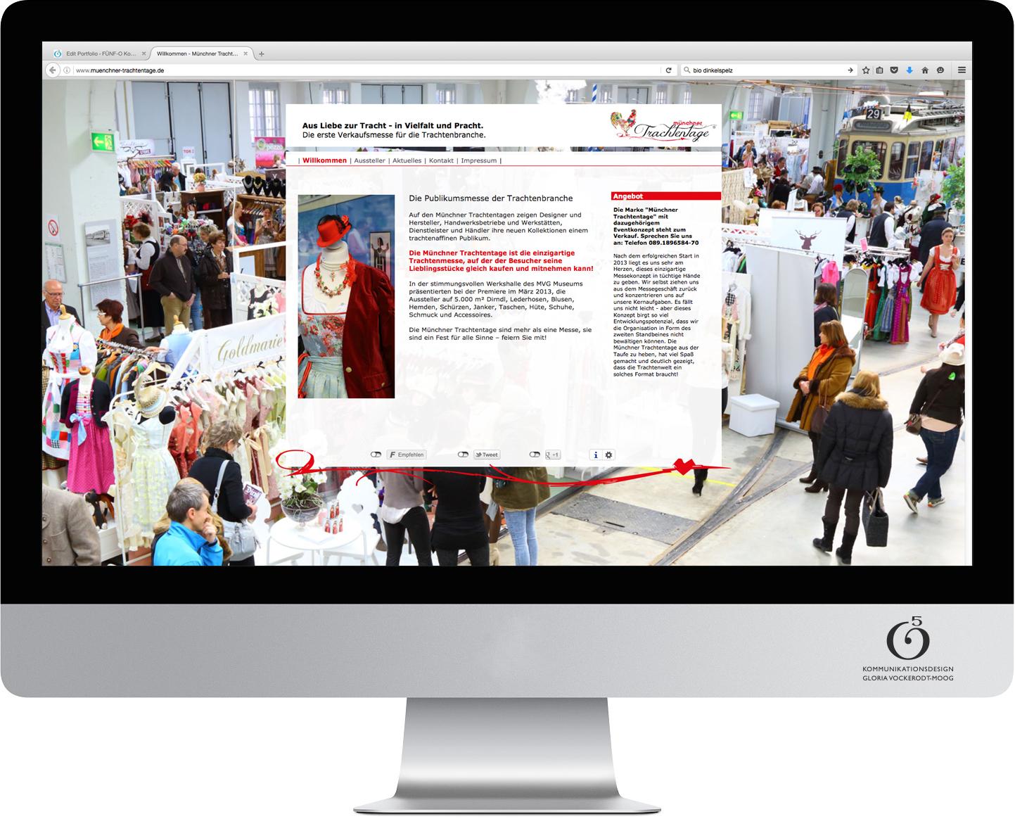 Webseitengestaltung Münchner Trachtentage