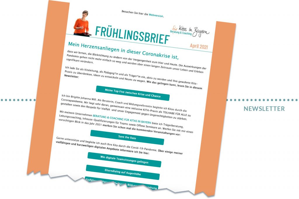 Referenz Kitas in Bayern Newsletter