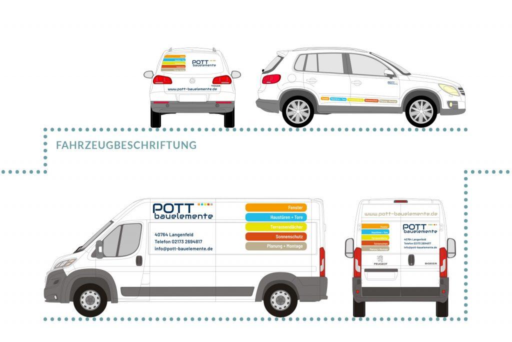 Referenz Pott Bauelemente Fahrzeugbeschriftung