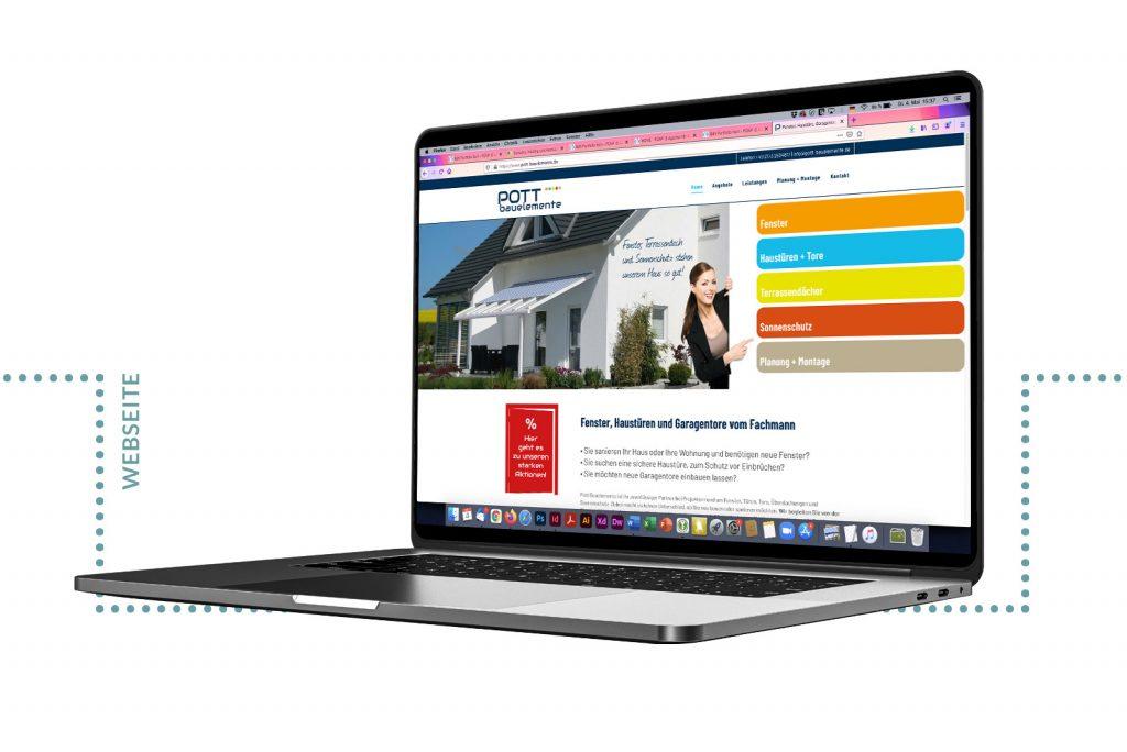 Referenz Pott Bauelemente Webseite